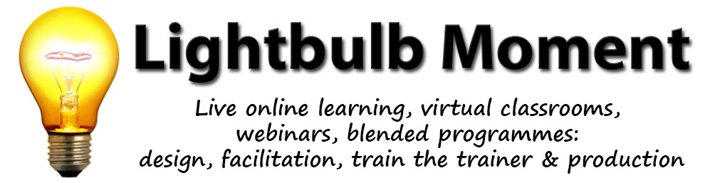 Lightbulb Moment Limited - webinars and virtual classroom train the trainer digital blended programmes